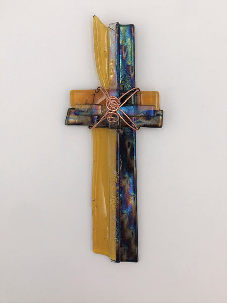 Fused Glass Cross - 312