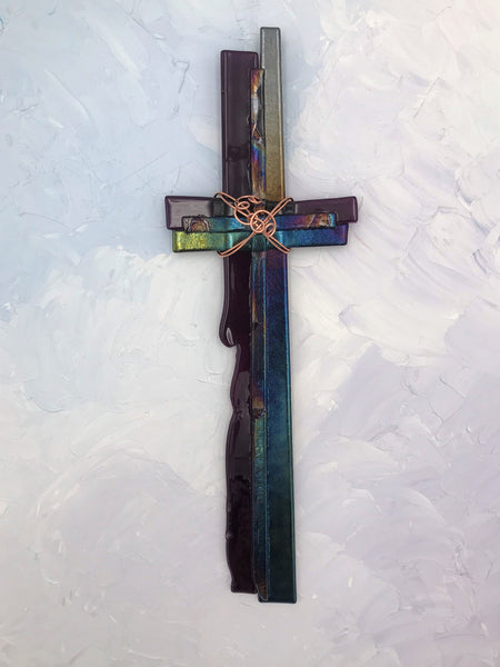 Fused Glass Cross - 604