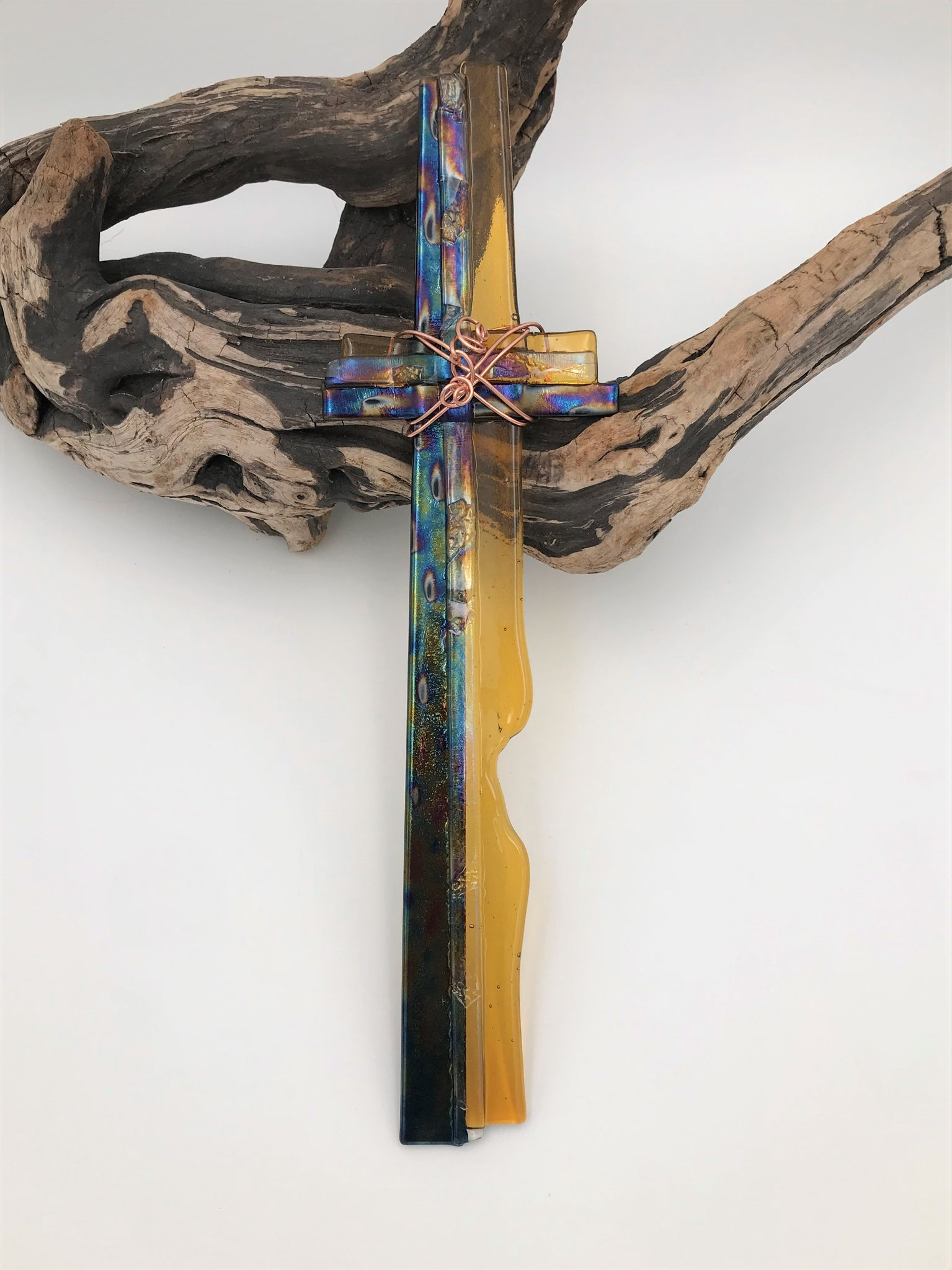 Fused Glass Cross - 603