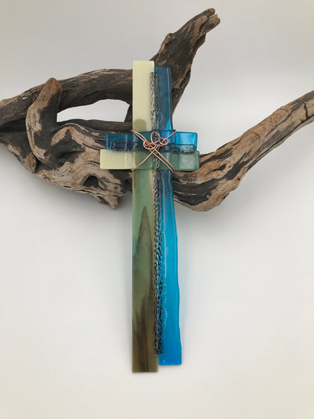 Fused Glass Cross - 601