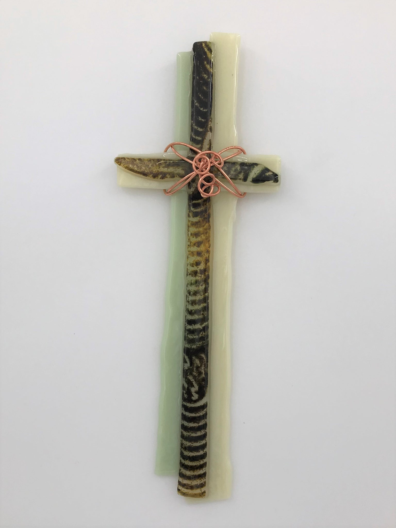 Fused glass cross -304