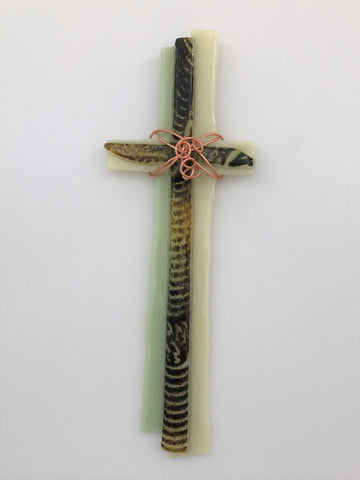 Fused Glass Cross - 304