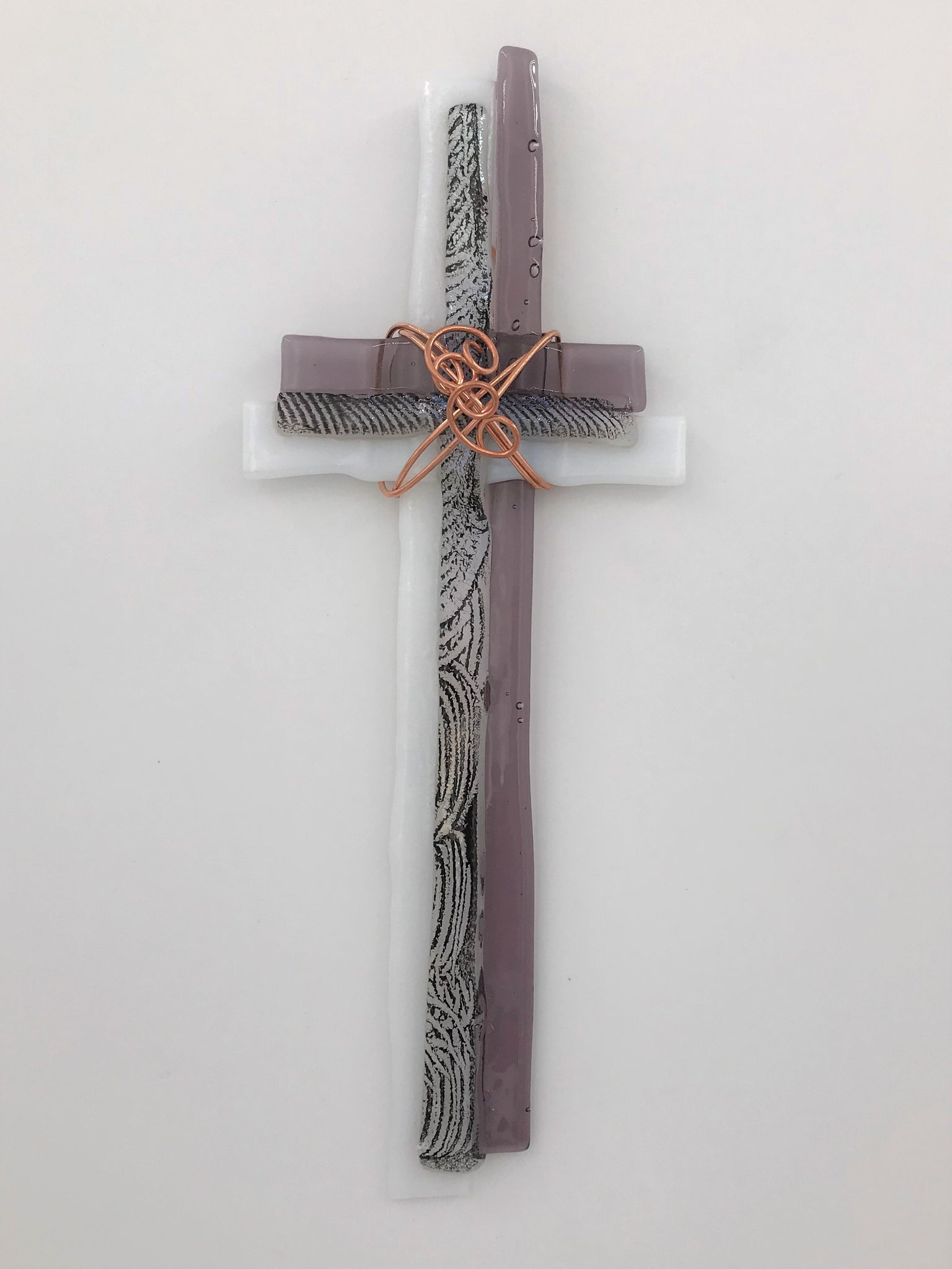 Fused Glass Cross - 303