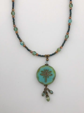 Dragonfly Necklace - 3001