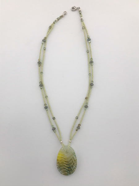 Ocean Green Necklace - 3009