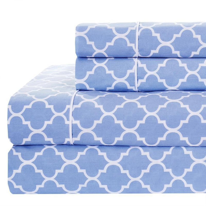 Meridian Split King Sheet Set - 340 Thread Count-Royal Tradition-SPLIT KING-PERIWINKLE-Egyptian Linens