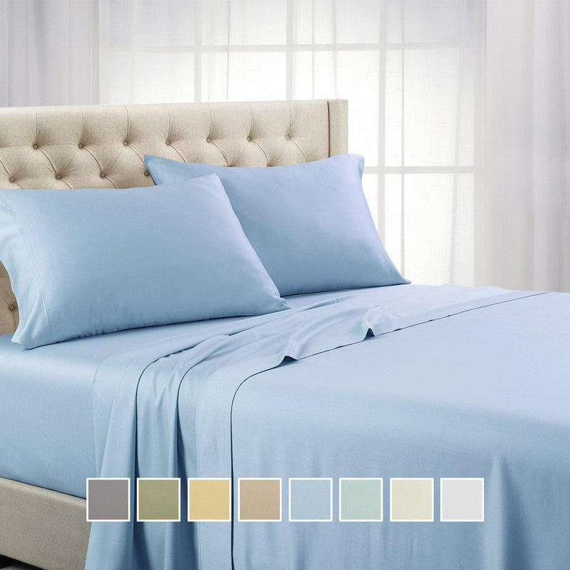 Split Top (Split Head) King Sheets 1000 Thread Count 100% Cotton Solid Sheet Sets-Royal Tradition-Egyptian Linens