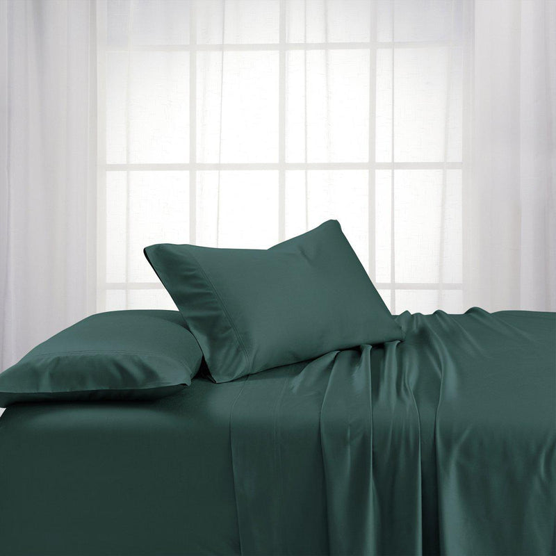 Bamboo Cotton Sheet Set - Bamboo Hybrid-Royal Tradition-Twin XL-Teal-Egyptian Linens