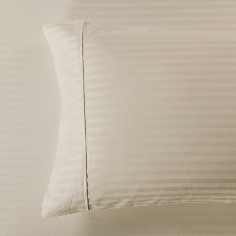 Damask Stripe 600 Thread Count Pillowcases (Pair)-Royal Tradition-King Pillowcases Pair-Linen-Egyptian Linens