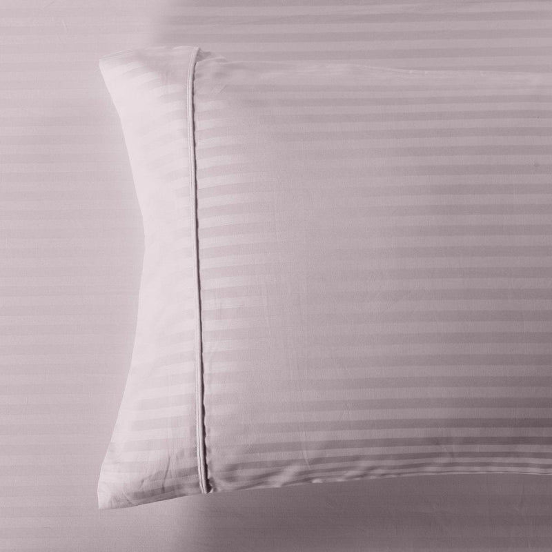 Damask Stripe 600 Thread Count Pillowcases (Pair)-Royal Tradition-King Pillowcases Pair-Lilac-Egyptian Linens