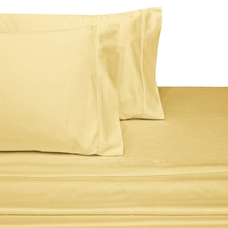 Attached Waterbed Sheet Set Solid 450 Thread Count-Royal Tradition-king/Calking Waterbed-Gold-Egyptian Linens