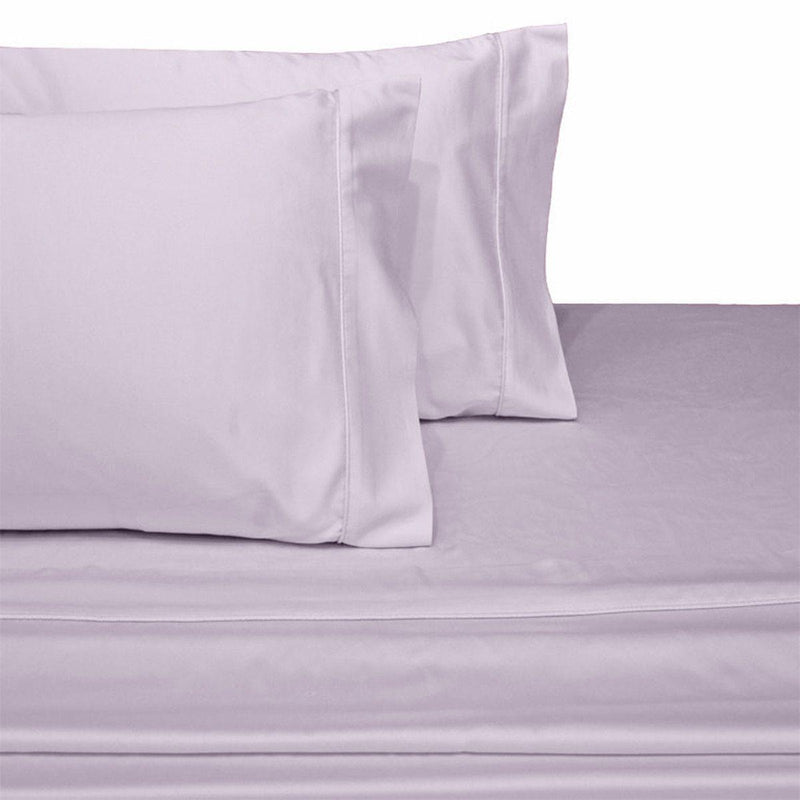 Attached Waterbed Sheet Set Solid 450 Thread Count-Royal Tradition-Super Single Waterbed-Lilac-Egyptian Linens
