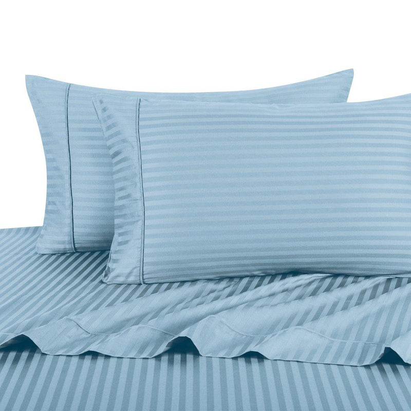 Sheet Set - Striped 600 Thread Count-Royal Tradition-Twin XL-Blue-Egyptian Linens