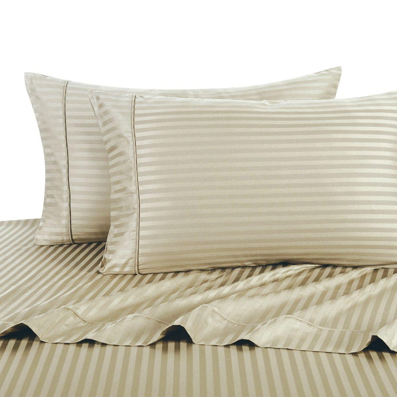 Sheet Set - Striped 600 Thread Count-Royal Tradition-Twin XL-Linen-Egyptian Linens