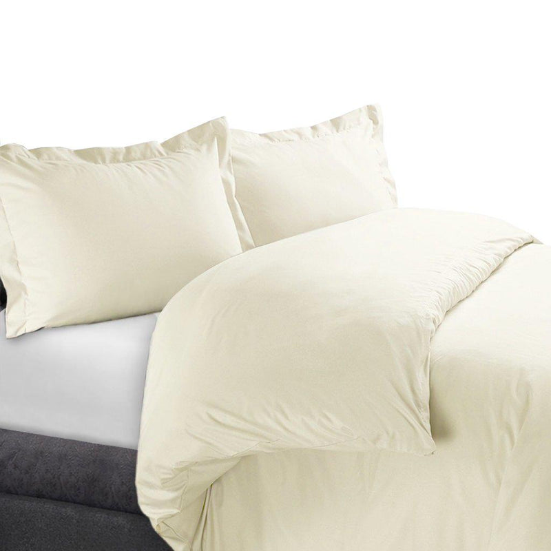 Duvet Cover Set 450 Thread Count-Royal Tradition-Full/Queen-Ivory-Egyptian Linens