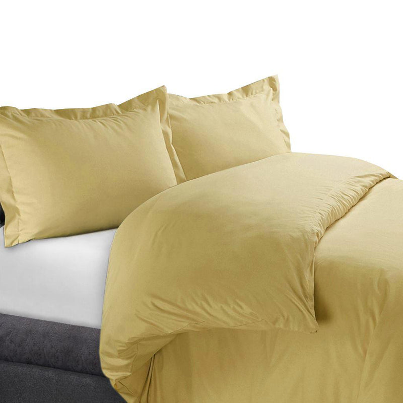 Duvet Cover Set 450 Thread Count-Royal Tradition-Full/Queen-Gold-Egyptian Linens