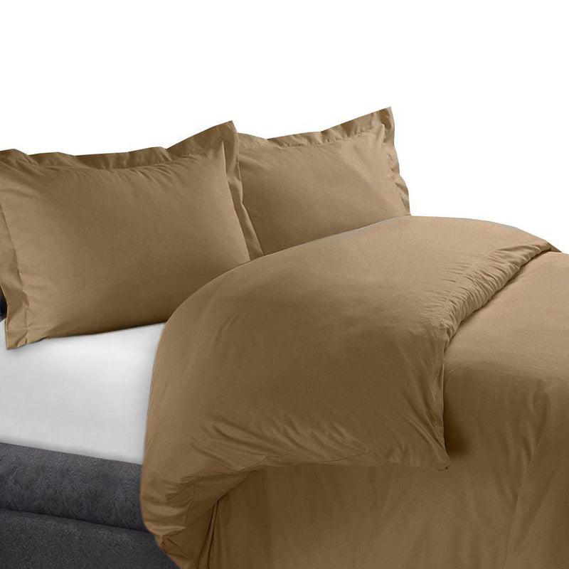 Duvet Cover Set 450 Thread Count-Royal Tradition-Full/Queen-Taupe-Egyptian Linens