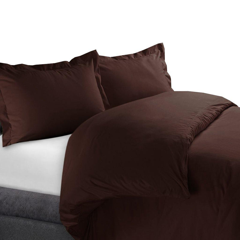 Duvet Cover Set 450 Thread Count-Royal Tradition-Full/Queen-Chocolate-Egyptian Linens