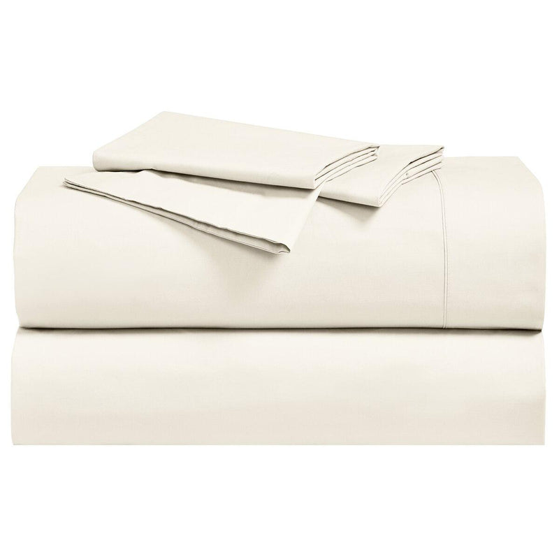 Percale Sheet Set - 250 Thread Count-Royal Tradition-Twin XL-Ivory-Egyptian Linens