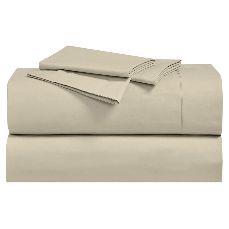 Percale Sheet Set - 250 Thread Count-Royal Tradition-Twin XL-Tan-Egyptian Linens