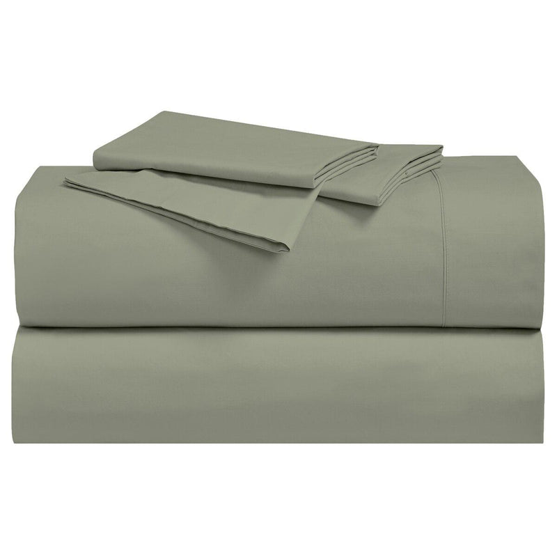 Percale Sheet Set - 250 Thread Count-Royal Tradition-Twin XL-Sage-Egyptian Linens