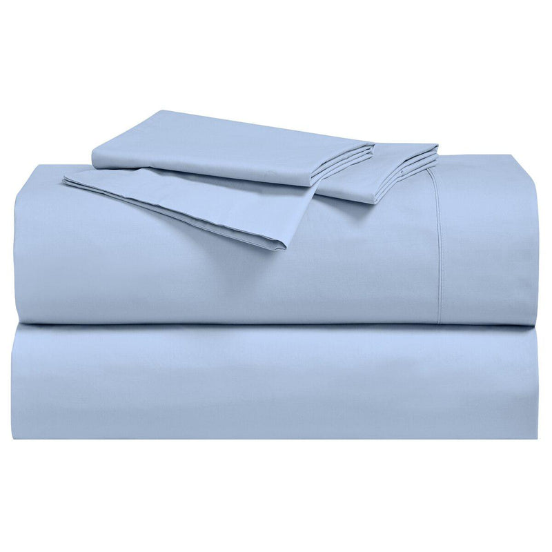 Percale Sheet Set - 250 Thread Count-Royal Tradition-Twin XL-Blue-Egyptian Linens