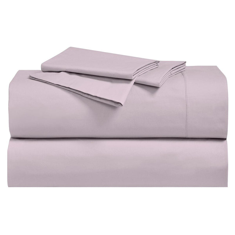 Percale Sheet Set - 250 Thread Count-Royal Tradition-Twin XL-Lilac-Egyptian Linens