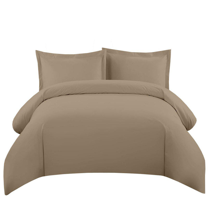 Duvet Cover Set 550 Thread Count-Royal Tradition-Twin/Twin XL-Taupe-Egyptian Linens