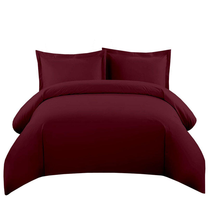 Duvet Cover Set 550 Thread Count-Royal Tradition-Full/Queen-Burgundy-Egyptian Linens