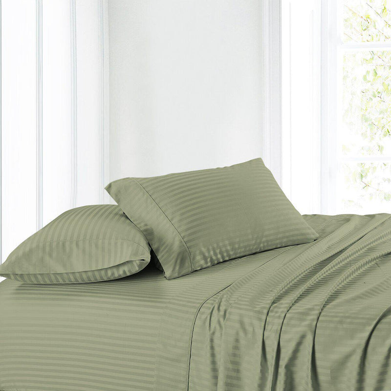 Split Adjustable Dual King Sheet Set - Striped 300 Thread count-Royal Tradition-Egyptian Linens