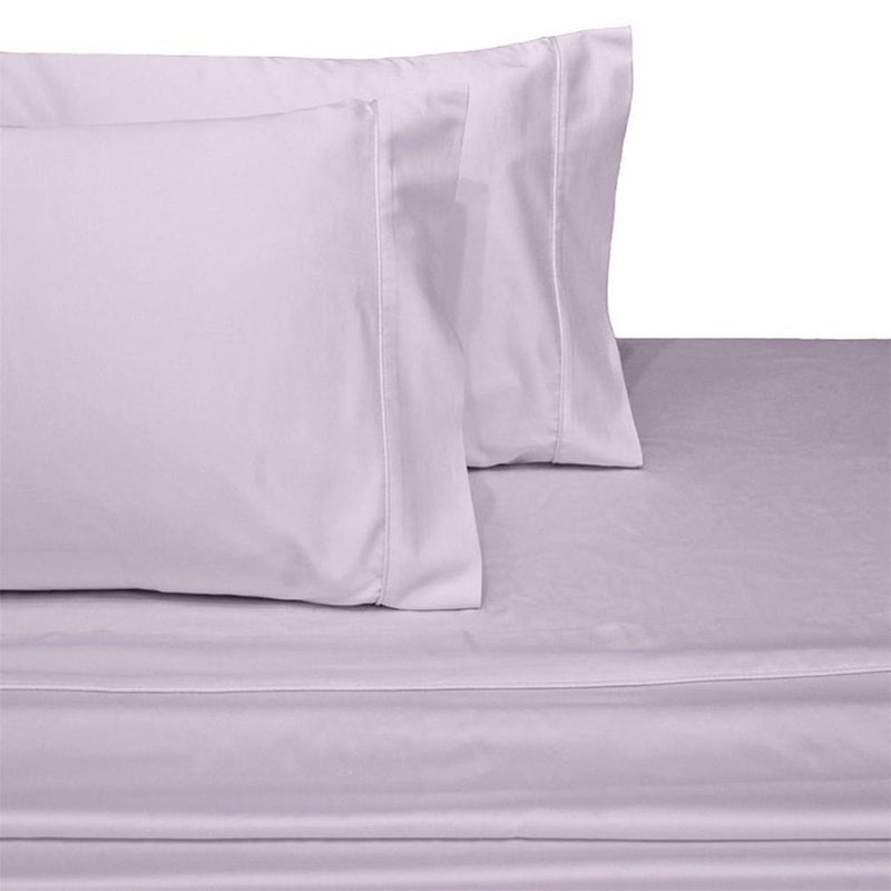 Split Top King Sheets 300 Thread Count 100% Cotton (Half Split Fitted)-Royal Tradition-Lilac-Egyptian Linens