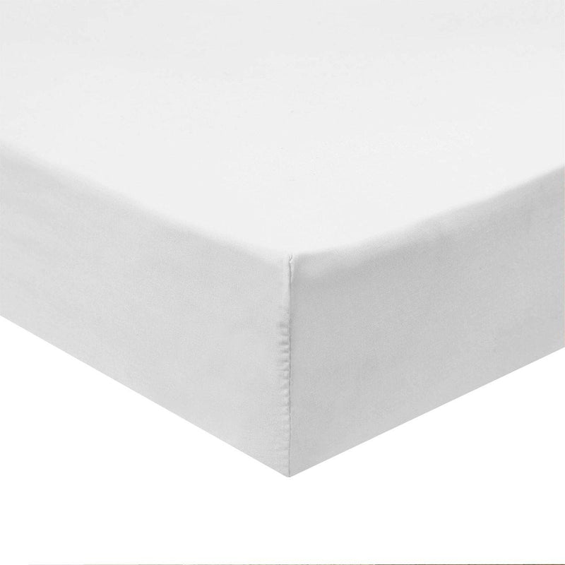 Flex Top King Fitted Sheet Only - Easy Care 650 Thread Count-Royal Tradition-WHITE-Egyptian Linens