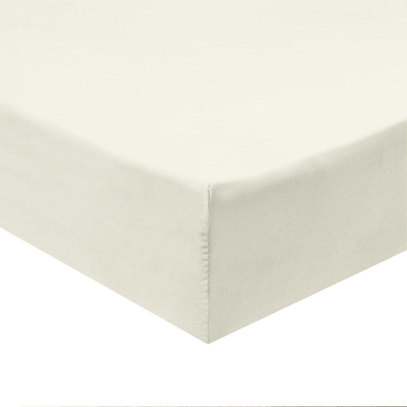 Flex Top King Fitted Sheet Only - Easy Care 650 Thread Count-Royal Tradition-IVORY-Egyptian Linens