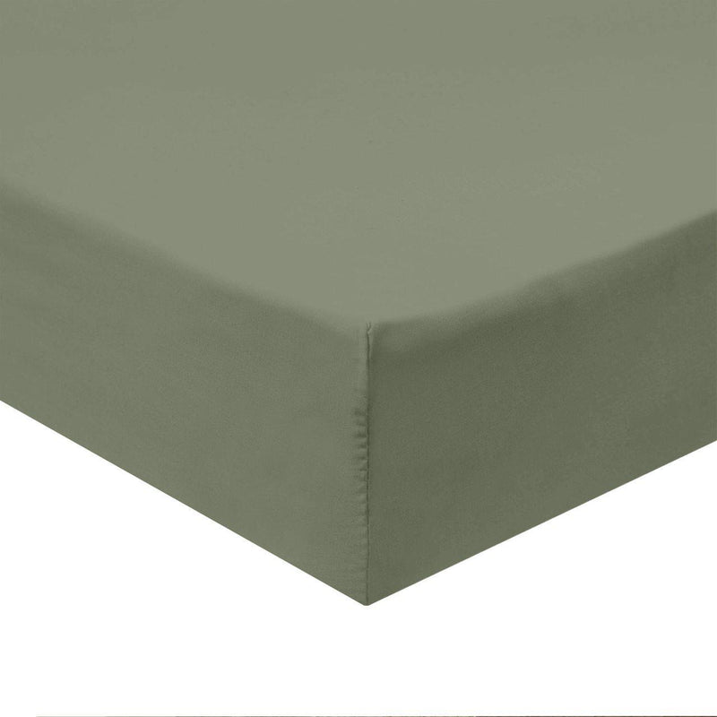 Flex Top King Fitted Sheet Only - Easy Care 650 Thread Count-Royal Tradition-SAGE-Egyptian Linens