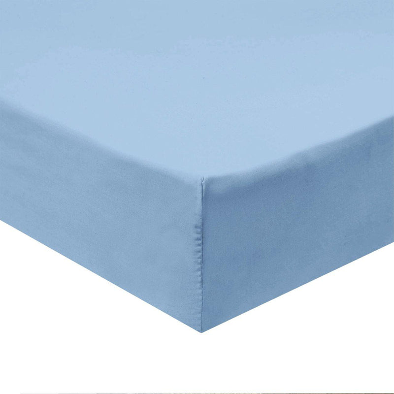 Flex Top King Fitted Sheet Only - Easy Care 650 Thread Count-Royal Tradition-BLUE-Egyptian Linens