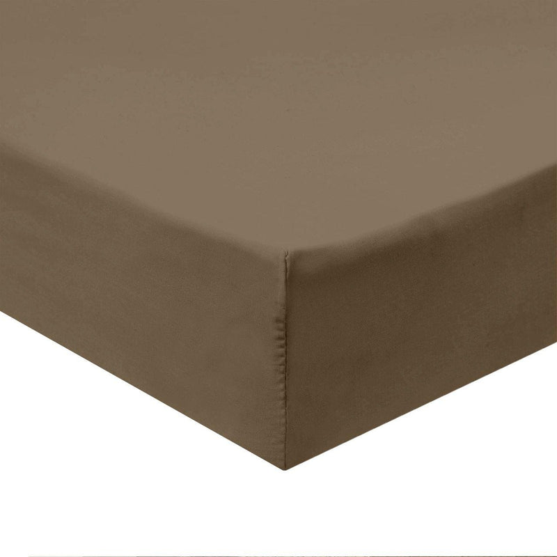 Flex Top King Fitted Sheet Only - Easy Care 650 Thread Count-Royal Tradition-TAUPE-Egyptian Linens