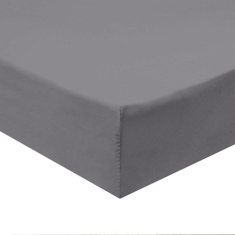 Flex Top King Fitted Sheet Only - Easy Care 650 Thread Count-Royal Tradition-GRAY-Egyptian Linens