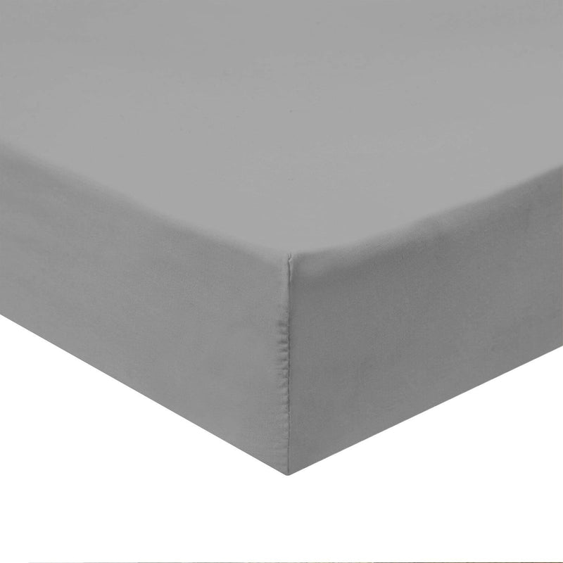 Top Split Flex King Fitted Sheet Only - Solid 340 Thread Count-Royal Tradition-Gray-Egyptian Linens