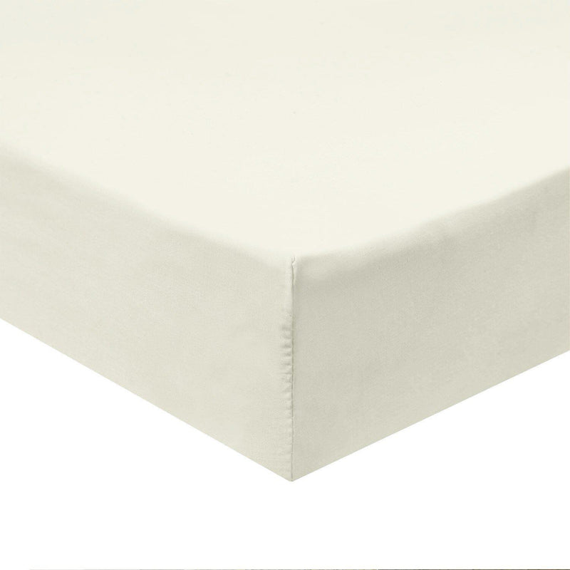 Flex Top California King Fitted Sheet Only -Solid 340 Thread Count-Royal Tradition-Ivory-Egyptian Linens