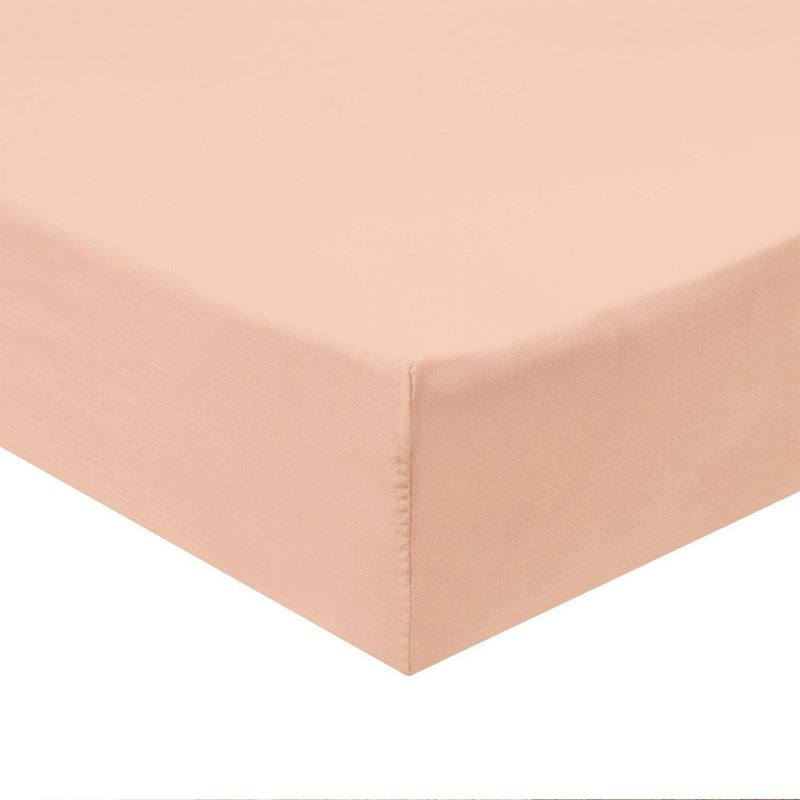 Top Split Flex King Fitted Sheet Only - Solid 340 Thread Count-Royal Tradition-Blush-Egyptian Linens