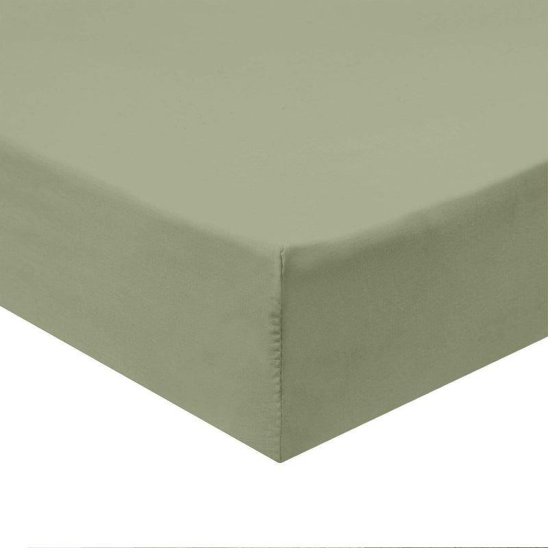 Top Split Flex King Fitted Sheet Only - Solid 340 Thread Count-Royal Tradition-Sage-Egyptian Linens
