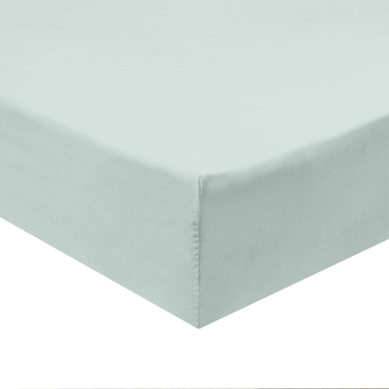 Flex Top California King Fitted Sheet Only -Solid 340 Thread Count-Royal Tradition-Sea-Egyptian Linens