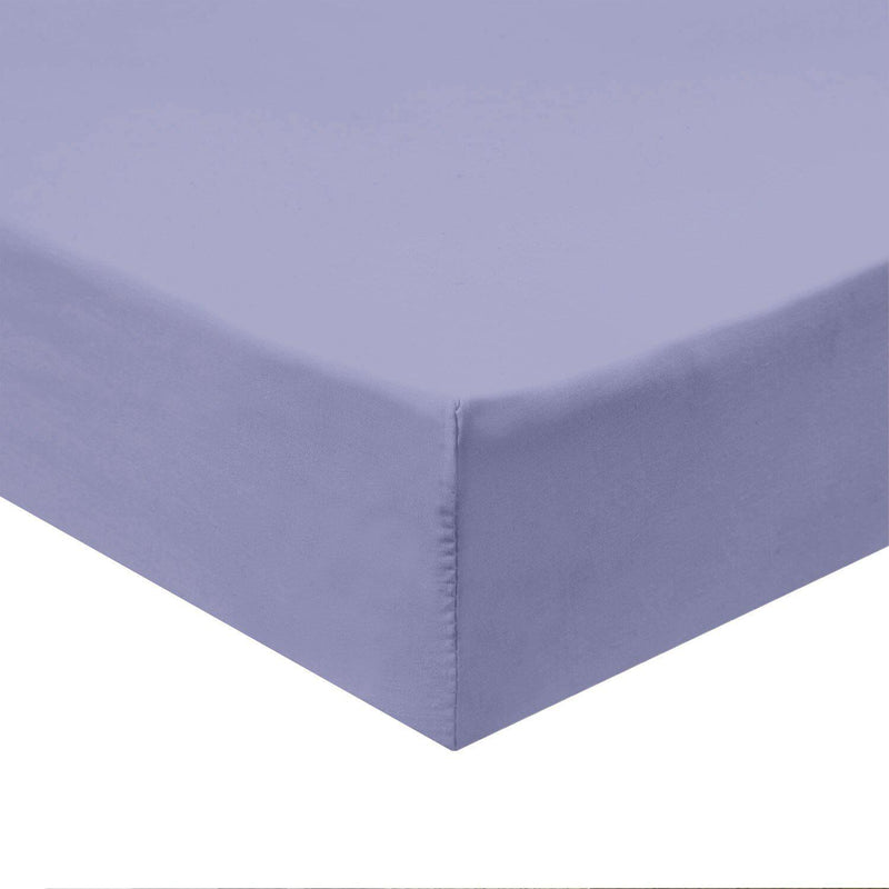 Flex Top California King Fitted Sheet Only -Solid 340 Thread Count-Royal Tradition-Periwinkle-Egyptian Linens