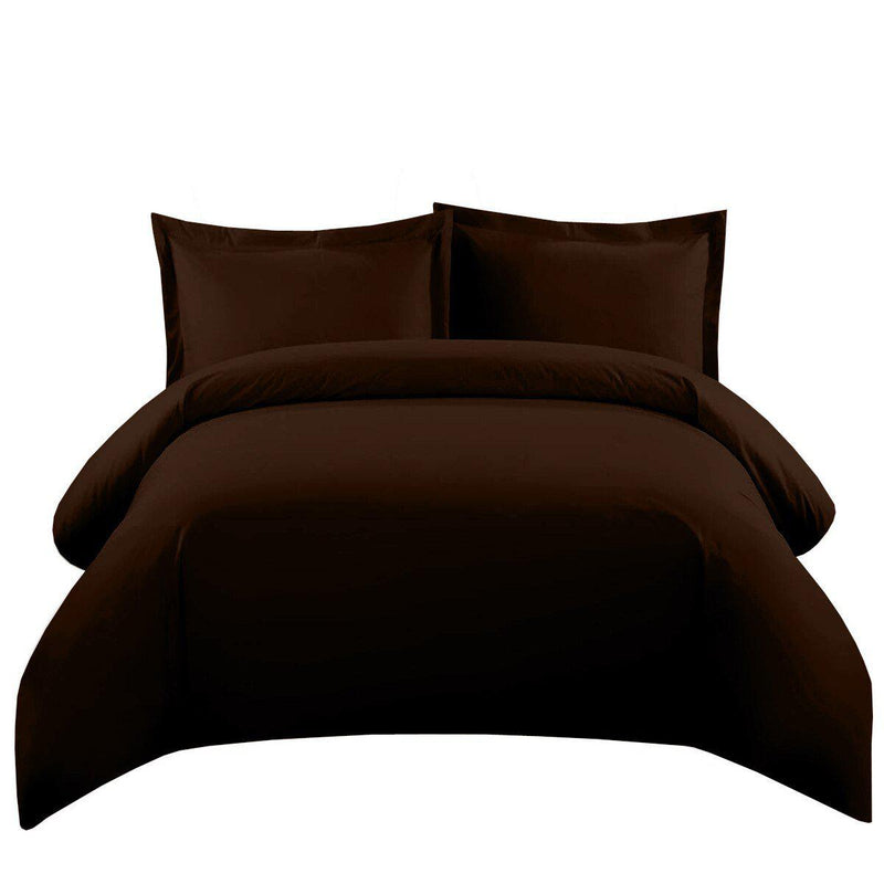 Duvet Cover Set 550 Thread Count-Royal Tradition-Twin/Twin XL-Chocolate-Egyptian Linens