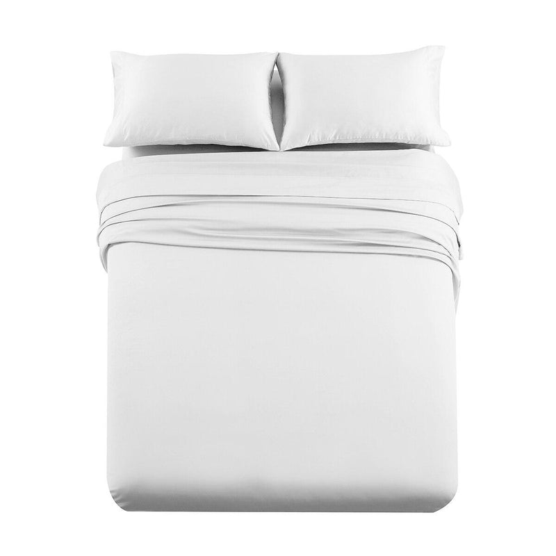 Luxury & Heavy 1000 Thread Count Solid Sheet Set-Royal Tradition-Queen-White-Egyptian Linens