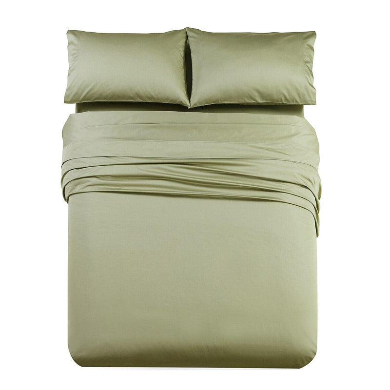 Luxury & Heavy 1000 Thread Count Solid Sheet Set-Royal Tradition-Queen-Sage-Egyptian Linens