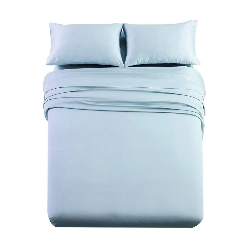 Luxury & Heavy 1000 Thread Count Solid Sheet Set-Royal Tradition-Queen-Blue-Egyptian Linens
