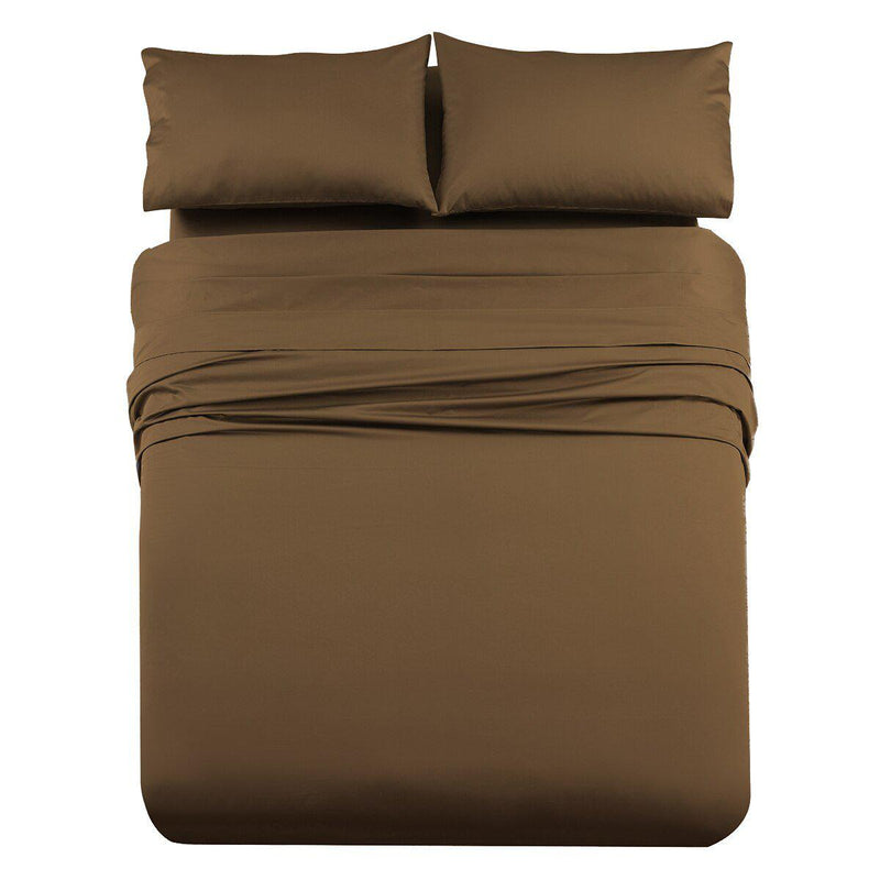 Luxury & Heavy 1000 Thread Count Solid Sheet Set-Royal Tradition-Queen-Taupe-Egyptian Linens