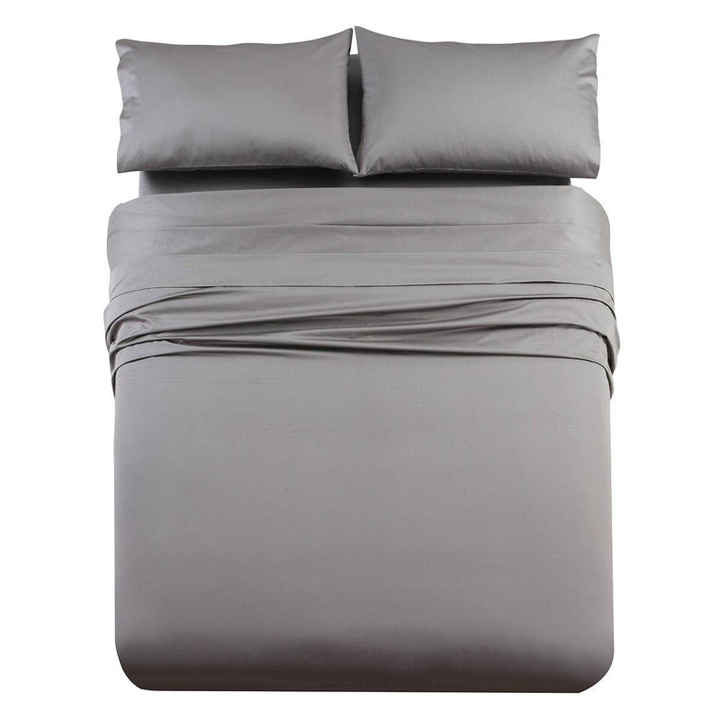 Luxury & Heavy 1000 Thread Count Solid Sheet Set-Royal Tradition-Queen-Gray-Egyptian Linens