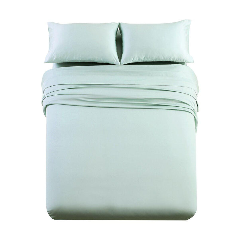 Luxury & Heavy 1000 Thread Count Solid Sheet Set-Royal Tradition-Twin XL-Sea-Egyptian Linens